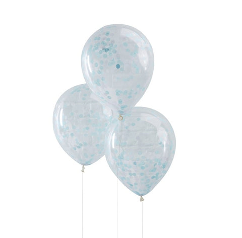 Blue Confetti Filled Balloons Pick & Mix