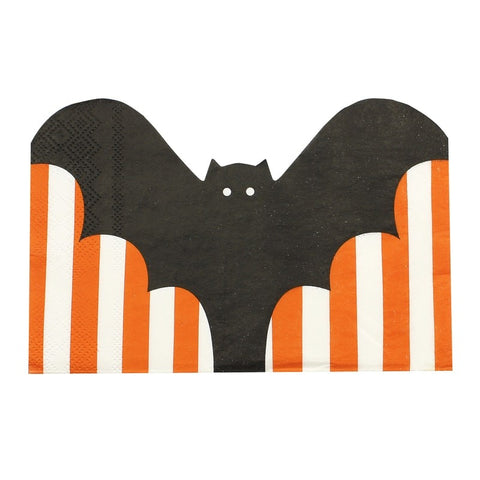 Bat Shaped Halloween Party Napkins - Pumpkin Party