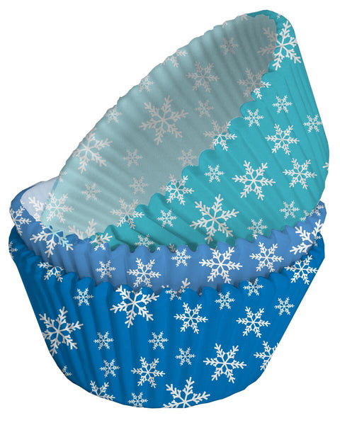 Creative Party Cupcake Cases Snowflake Flurry Blue