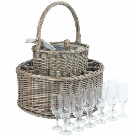 Chilled Garden Party Basket with 12 Glasses