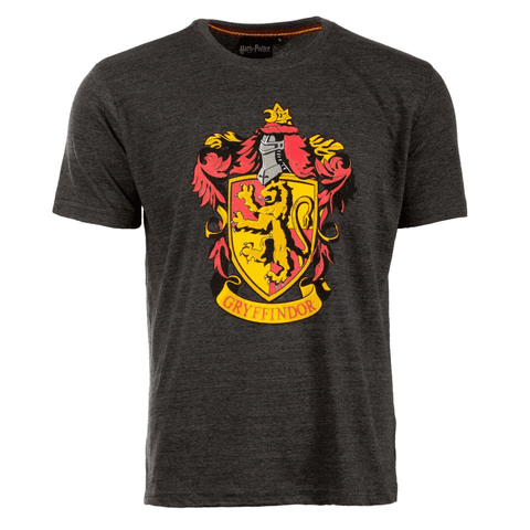 Harry Potter - T-Shirt - Gryffindor Crest (S) Charcoal