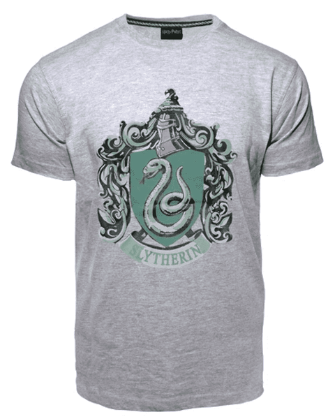 Harry Potter - Slytherin Crest Tee Grey (M)