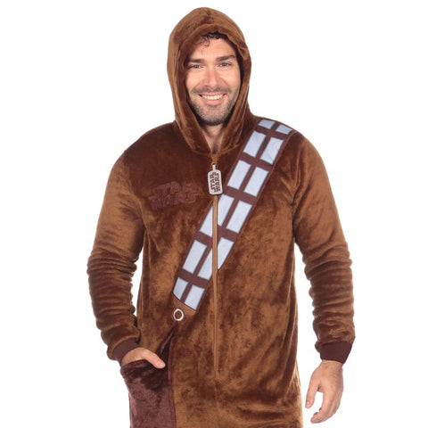 Star Wars Chewbacca Men Overall Brown Jumpsuit Nightware
