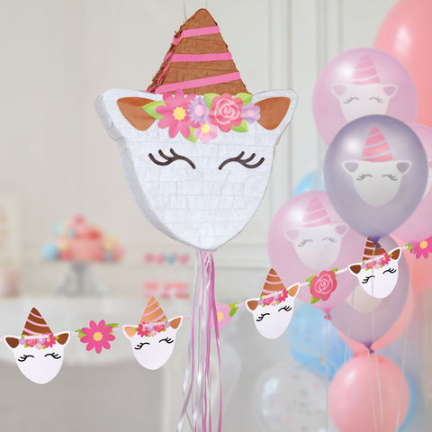Hatton Gate Unicorn Piñata Banner and Balloon Pack