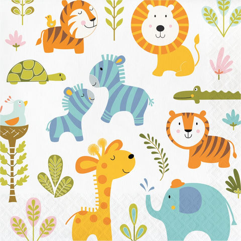 16Ct Happy Jungle Napkins