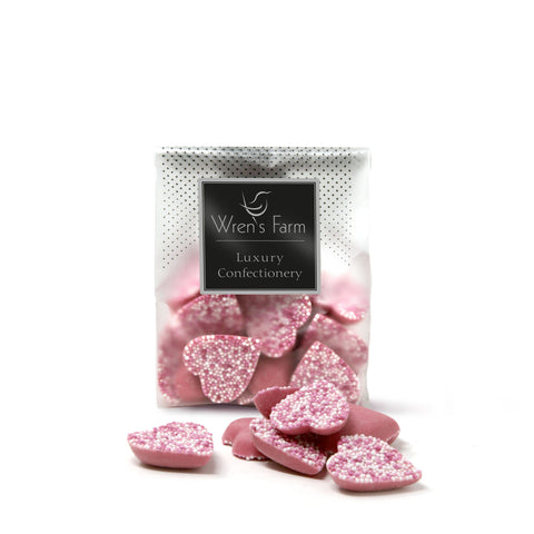 Wrens Farm Pink Chocolate Hearts