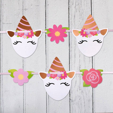 Unicorn Shaped Bunting 1 per pack 3.5 metres