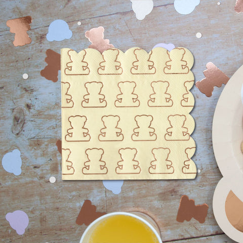 Teddy Bear napkins 20 Napkins Per Pack