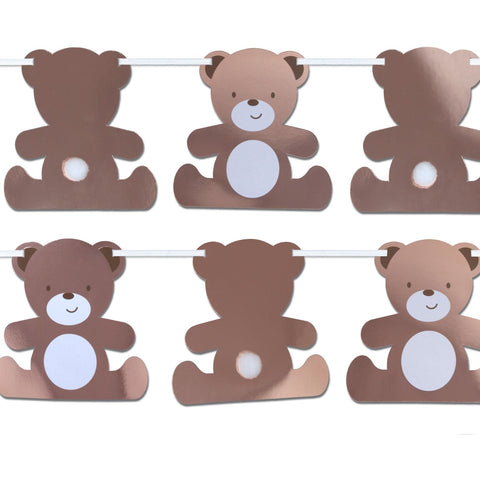 Teddy Bear Shaped Bunting 1 per Pack 3.5 Metres