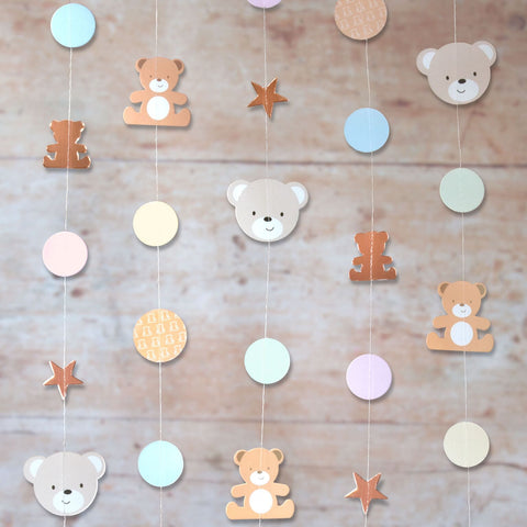 Teddy Bear String Decorations 6 Strings Each 2 Metres Per Pack