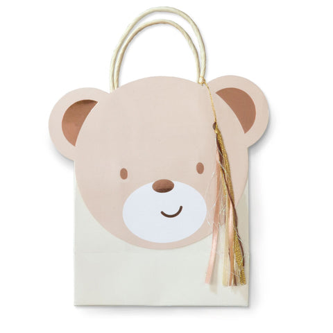 Teddy Bear Shaped Party Bags 8 Bags Per Pack