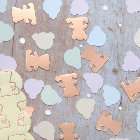 Teddy Bear Shaped Confetti 14 Gram Pack
