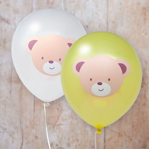 Teddy Bear printed Latex Balloons 8 Balloons Per Pack