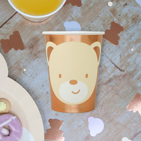 Teddy Bear Paper Party Cups 8 Cups Per Pack