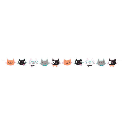 Purrfect Party Shaped Banner