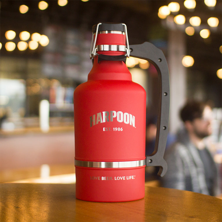 128oz Red Stainless Growler