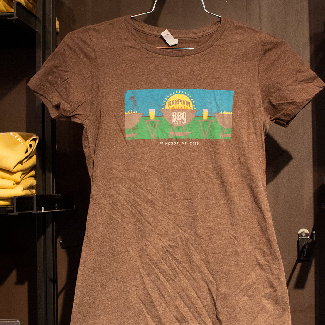 2018 Harpoon BBQ Fest Brown Women's T-shirt