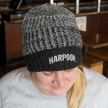 Harpoon Knit Hat - Black & Gray