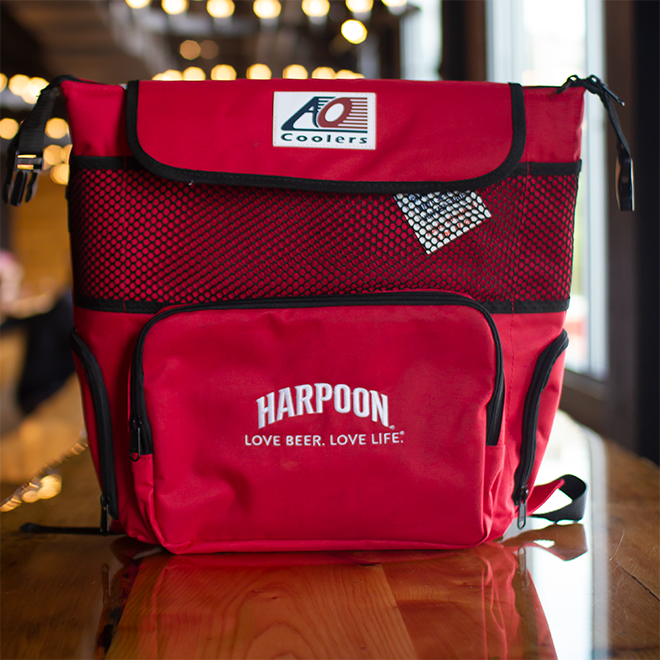 Red Backpack Cooler