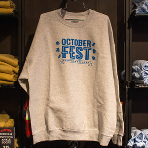 2017 Harpoon Octoberfest Gray Crew Neck Sweatshirt