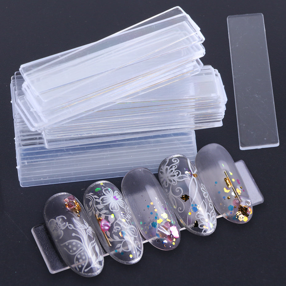 Nail display acrylic strips | 50pcs