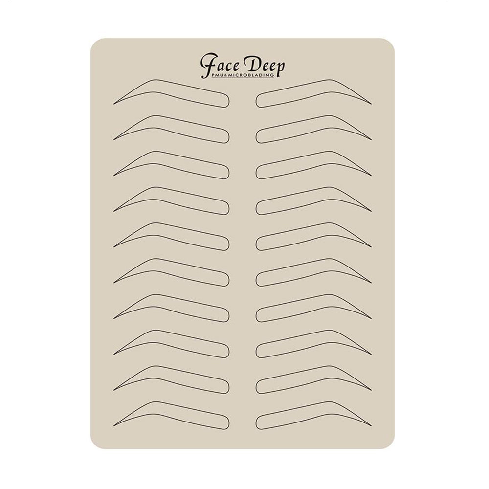 Practice skin mat - Brows (With brows printed)