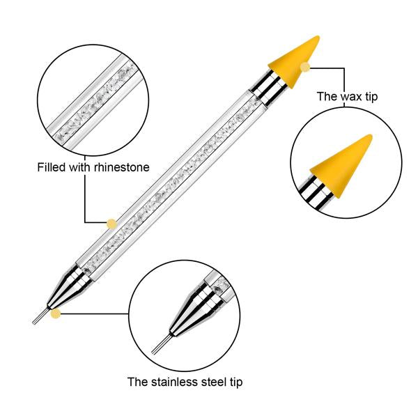 Diamond pick up pen dual end - Deluxe crystal design
