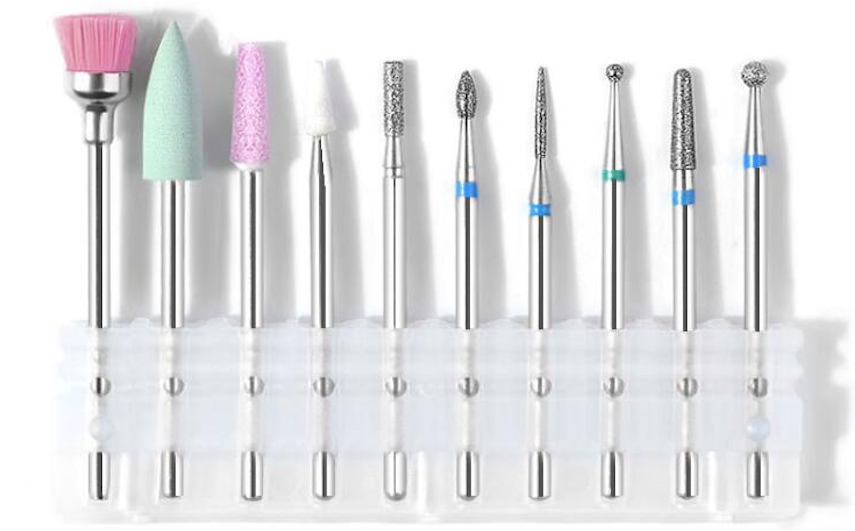 10pc High Quality Drill bit set for electric nail files - Set #1