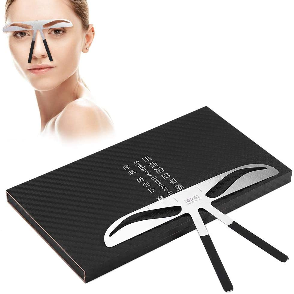 Stainless steel eyebrow stencil ruler