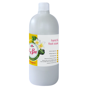 Liquid hand & foot soak 500ml - Frangipani flower