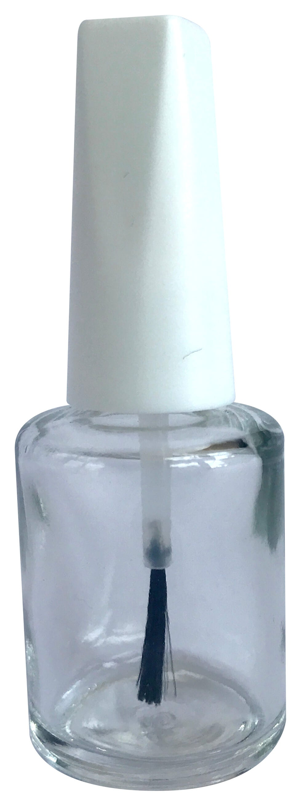Nail polish bottle 10ml with white cap - i-Spa