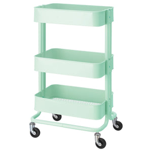 Metal hand trolley 3 tier - Light Green