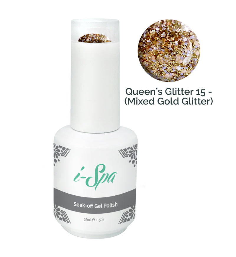 QUEEN'S GLITTER 15 - (Mixed gold glitter)