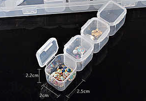 Nail art storage container