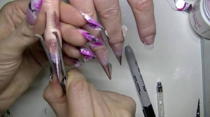 Pinch tweezer for nail sculptures