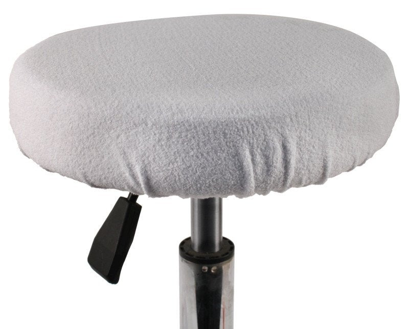 Towelling stool cover - Available in: Black & White