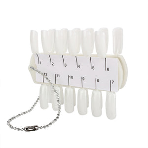 Nail colour display 24 colors - with chain - i-Spa