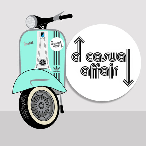 A casual affair vintage vespa scooter
