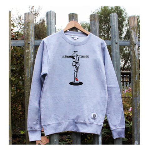 crucified casual sweatshirt