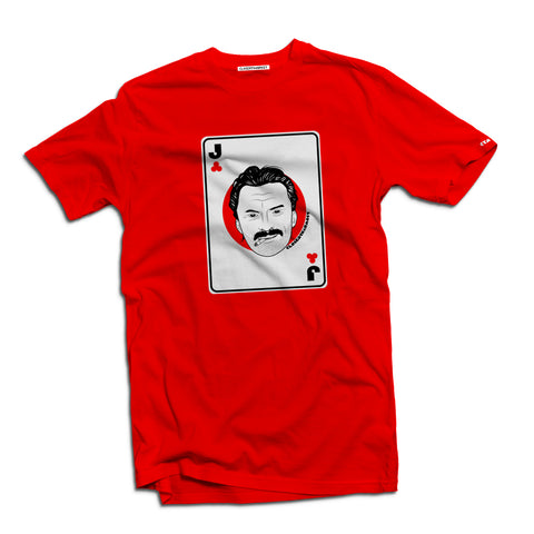 Anti-heroes playing cards Begbie t-shirt - The Working-class Brand - Closer Than Most