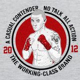 No talk casual contender boxing t-shirt - The Working-class Brand - Closer Than Most