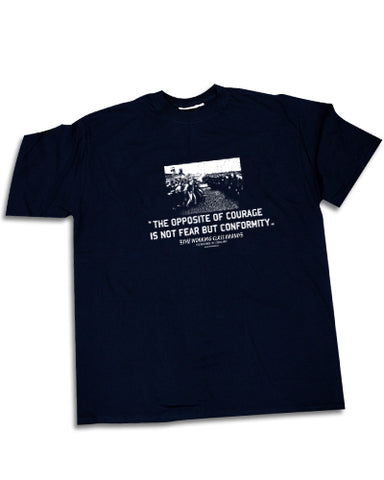 COURAGE miners strike Mens t-shirt - The Working-class Brand - Closer Than Most