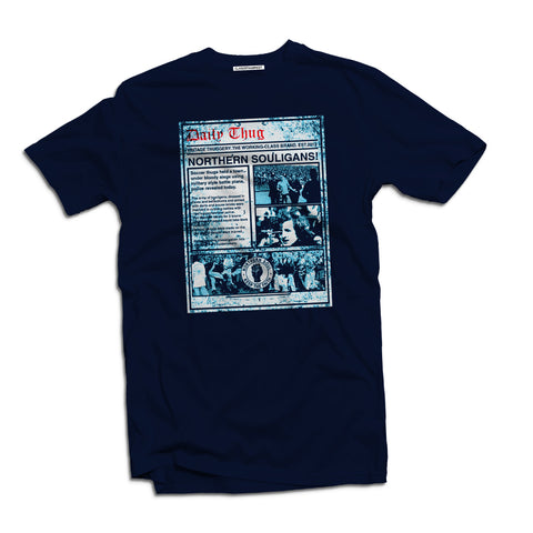 Vintage Thuggery hooligan Navy Men's t-shirt - The Working-class Brand - Closer Than Most