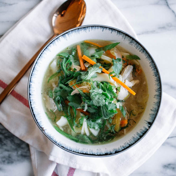 Chicken Noodle Soup with Lime and Ginger
