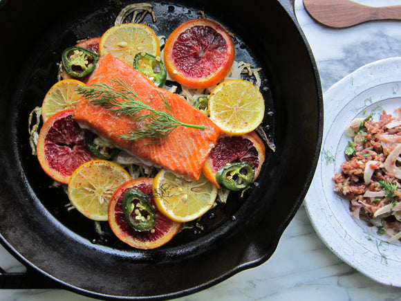 Whole30 Citrus Dill Salmon with Roasted Beet Salad