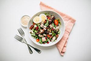 Whole30 Cranberry Cobb Salad with Grilled Chicken