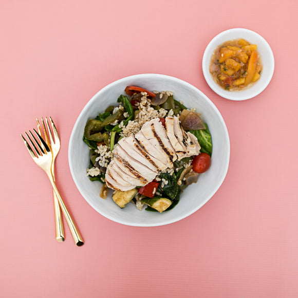 Peach Chicken Mojo Bowl