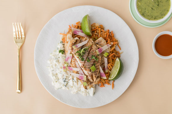Whole30 Fish Taco Bowl Cabbage Jicama Slaw