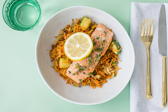 Salmon in Olive Oil Whole30 Prepared Meal Package Delivery