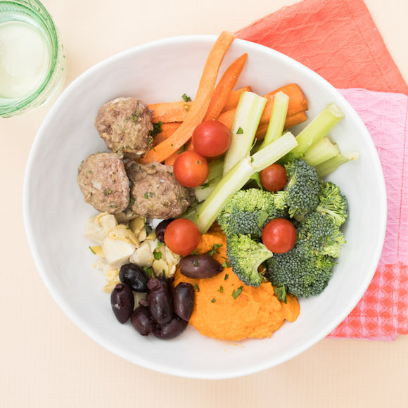 Whole30 Lamb Meatball Mezze Plate